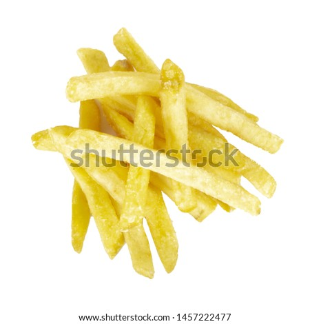 heap of heap offrench-fried potatoes isolated on white background. top view #1457222477