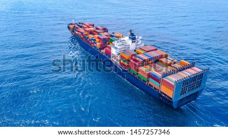 Container Ship Vessel Cargo Carrier Royalty-Free Stock Photo #1457257346