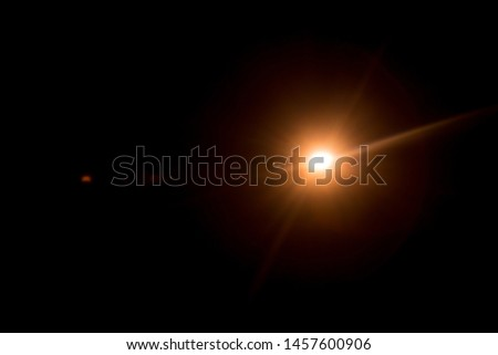 Abstract Natural Sun flare on the black #1457600906