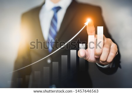 Businessman plan the growth. Investment with financial chart, Growth and successful concept. #1457646563