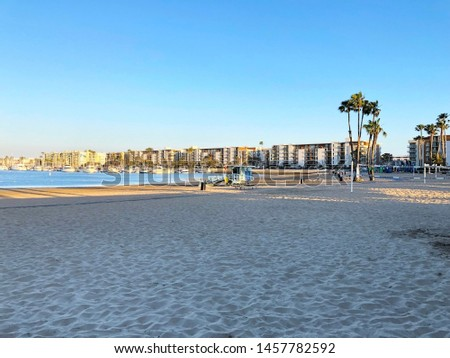 The beach in Marina Del Ray. Los Angeles. California. USA.  #1457782592