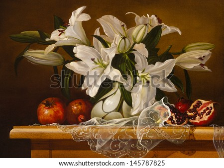still life lily flowers