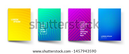 Abstract pattern gradient background templates. Vector modern geometric design with abstract minimal gradient line shapes effect for brochure cover, template presentation or flyer #1457943590