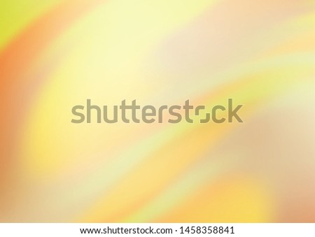 Light Yellow, Orange vector modern elegant template. A vague abstract illustration with gradient. A new texture for your design. #1458358841