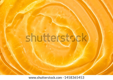 Cream gel cosmetic lubricant  background transparent smudge yellow orange #1458365453
