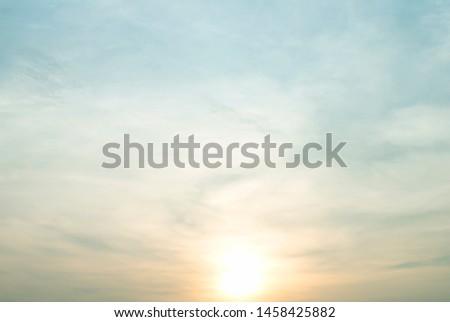 Sun rise and sun set sky with cloud #1458425882
