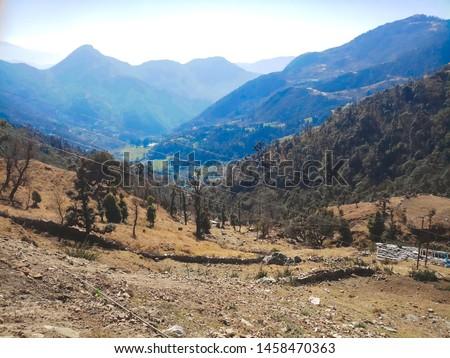 Terrace Farming in Bageshwar Hill, Uttarakhand Hill, Uttarakhand #1458470363