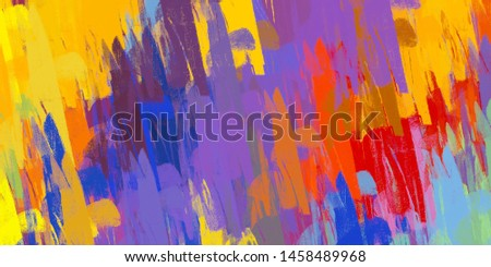 Handmade surreal abstract pattern. Modern artistic canvas. 2d illustration. Texture backdrop painting. #1458489968