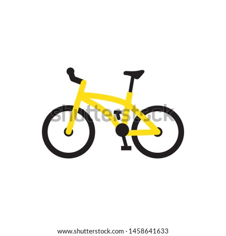 Bicycle icon vector. Flat design style on white background.