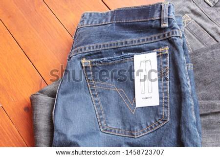 Denim. jeans texture. Jeans background. Denim jeans texture or denim jeans background. #1458723707