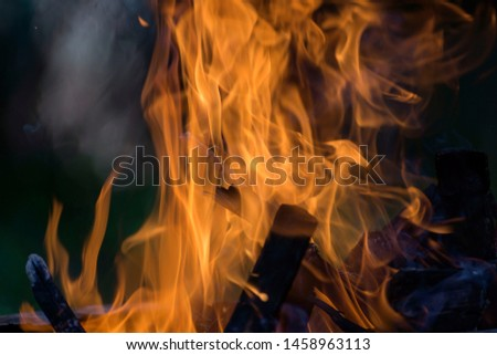 Blurred natural flame flame surface for flame background #1458963113
