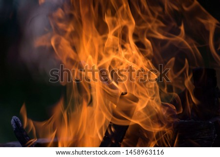 Blurred natural flame flame surface for flame background #1458963116