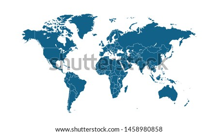 Color world map vector modern #1458980858