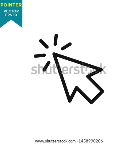 cursor icon, pointer arrow icon vector logo template #1458990206