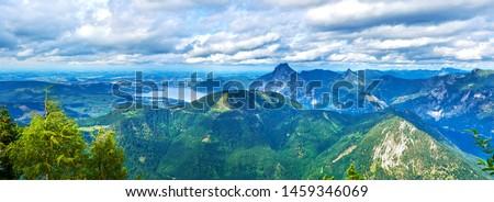 Gmunden from the Feuerkogel peak, Ebensee, Austria. #1459346069