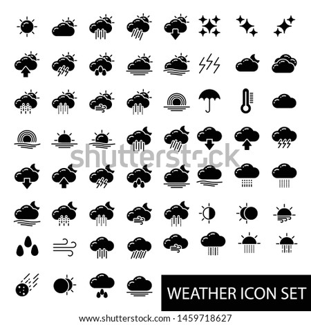 Weather Forecast Icon Vector Illustration Logo Template #1459718627