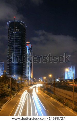 Night view of Tel-Aviv and Raman-Gan #14598727