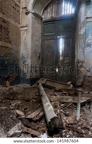 Abandoned Kazan Theotokos Church in Yaropolec, Russia #145987604