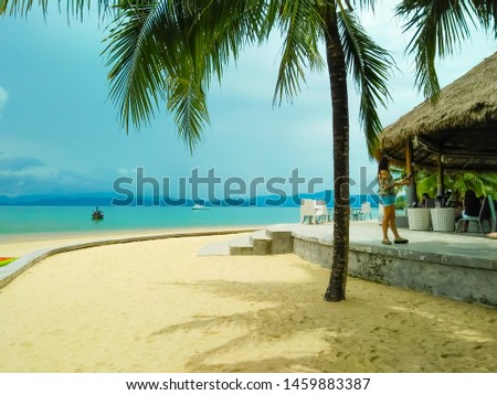 RANONG, THAILAND - JANUARY 09, 2019:Seaside accommodationSeaside accommodation.For relaxing holidays #1459883387