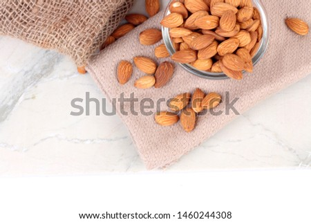 Almond. Almond nut isolated. Almond slice. Full depth of field. #1460244308