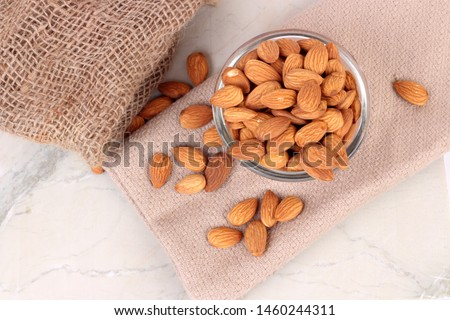 Almond. Almond nut isolated. Almond slice. Full depth of field. #1460244311