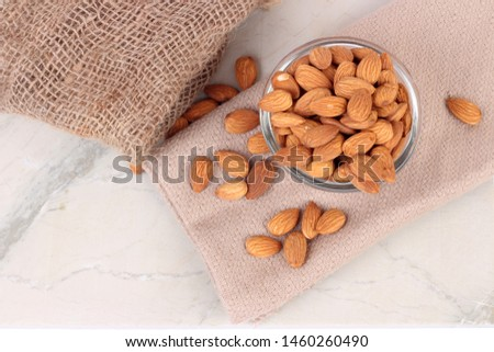 Almond. Almond nut isolated. Almond slice. Full depth of field. #1460260490