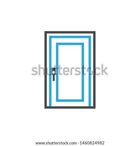 Door line icon vector door window construction icons #1460824982