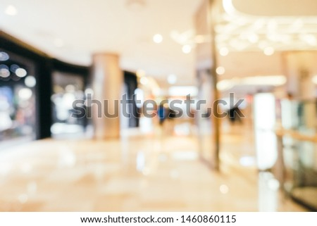 Abstract blur shopping mall of department store interior for background #1460860115