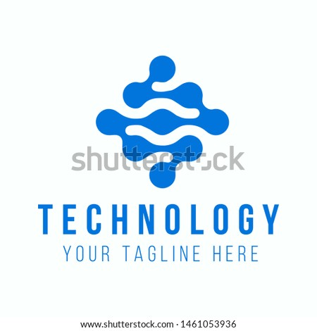 Tecnology Logo Flat Design Inspiration #1461053936