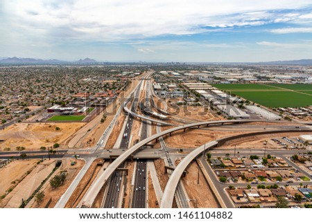 Freeways meet in the desert as construction continues to achieve deadlines #1461104882