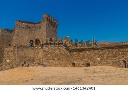 Genoese fortress — fortress in Sudak (Crimea) #1461342401