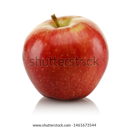 Single red apple isolated on white background #1461673544