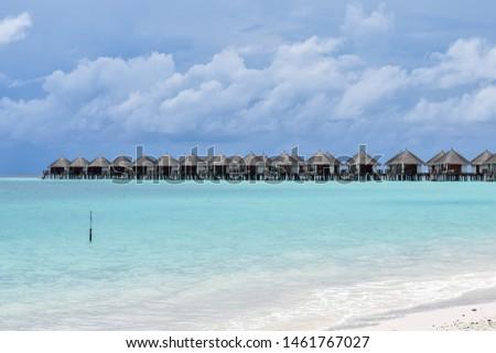 Beautiful sea and sky at Maldives. #1461767027