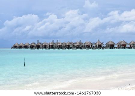 Beautiful sea and sky at Maldives. #1461767030