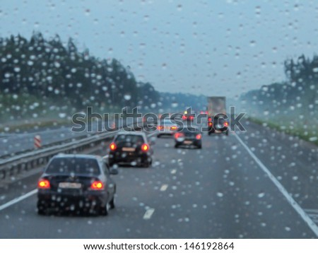expressway in rainy twilight #146192864