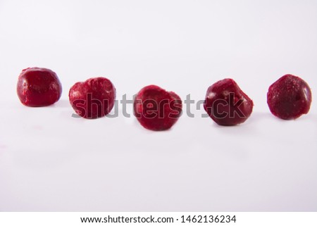 Frozen fruit on a white background #1462136234