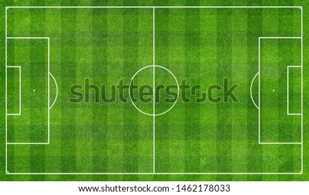 football stadium field top view Royalty-Free Stock Photo #1462178033