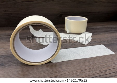 Rolls and strips of masking tape #1462179512