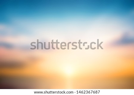 Beautiful sunset sky above clouds with dramatic light #1462367687