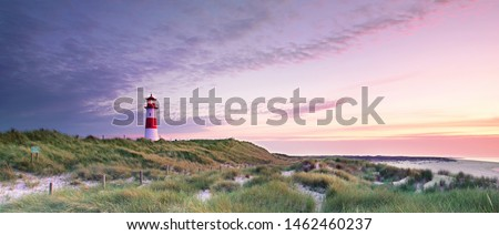 Lighthouse List and beautiful coastal landscape of the german North Sea Island Sylt, Germany, Europe #1462460237