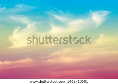 A soft fog cloud background with a pastel colored orange to blue gradient #1462710581