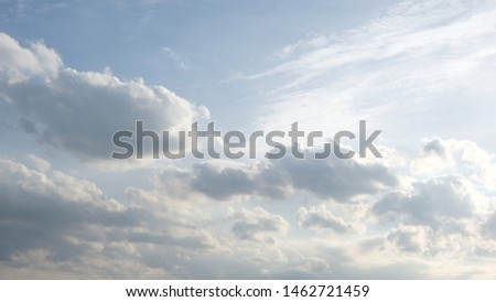 Beautiful sky with clouds background, Sky with clouds weather nature cloud blue, Blue sky with clouds and sun, Clouds At Sunrise. #1462721459
