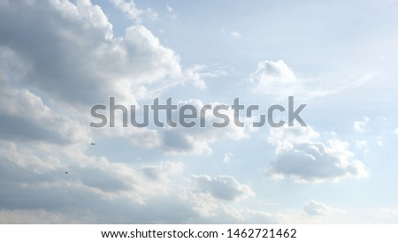 Beautiful sky with clouds background, Sky with clouds weather nature cloud blue, Blue sky with clouds and sun, Clouds At Sunrise. #1462721462