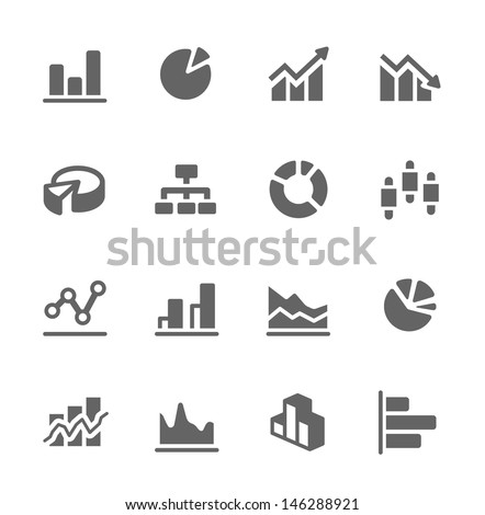 Simple set of diagram and graphs related vector icons for your design.