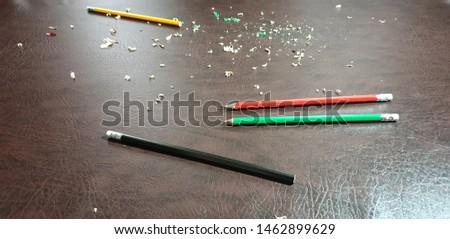 Knife sharpening pencils. Sharpen pencils. Sharpening pencils #1462899629