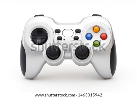 PC wireless game controller (gamepad) on a white background. #1463015942