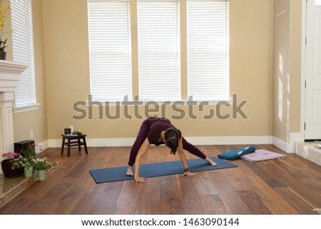 Yoga pose spiderman side lunge right