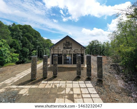 TELUPID, SABAH - June 11, 2019 : The Building of the Tuaty Gallery (named after Tuaty Akau, original Death March track cutter) were built at their respective historic sites at Bauto Forest Reserve #1463232047