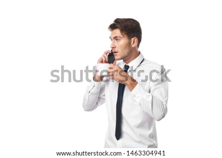business man talking on the phone background #1463304941
