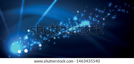 Fireworks dark night background for celebration design. Blue abstract background. Birthday party. Festive art background. Space background. Night party. Anniversary, birthday. Christmas eve. #1463435540
